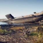 Le sous-marin penché...