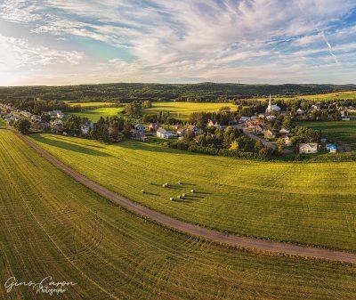 Le village de St-Donat et le temps des foins